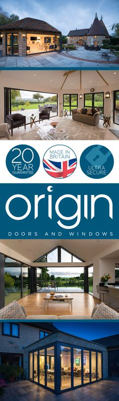 With guaranteed quality, add the Origin touch to your home. Bungalow Extensions, House Extensions, Kitchen Extensions, Exterior Design, Interior And Exterior, Open Plan Living, House Goals, My Dream Home, Dream Homes