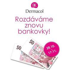 Kdyby se v uplynulém roce v České republice dělal průzkum o přijetí nové měny, u českých žen by se naše měna #DERMACOL jistě naprosto s přehledem umístila na předních příčkách. Akce s bankovkami se setkala s velkým ohlasem, a proto jsme se rozhodli ji zopakovat! Až do 17. 11. 2015 za každou utracenou stokorunu získáte zpět do své peněženky padesátikorunovou bankovku Dermacol, kterou můžete uplatnit na další nákup. Akce platí v prodejnách v #Palladium a OC #Quadrio #DermacolOfficial