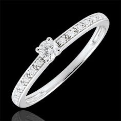 Alliance Diamants blancs tour complet Or blanc sertie grain de 156 diamants  - 0,85 carat   Style   Jewels   Pinterest   Ring, Wedding and Weddings 22f895d38dc0