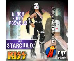 The Starchild (Paul Stanley) KISS Series 1 Love Gun Action Figure from Figures Toy Company. Kiss Action Figures, Kiss World, Peter Criss, Love Gun, Paul Stanley, Ace Frehley, Hot Band, Great Bands, Scooby Doo