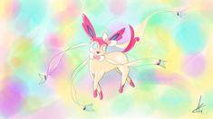 sylveon pokemon fanart illustration drawing