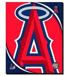 Los Angeles Angels Team Logo Canvas Framed Over With 2 Inches Stretcher Bars-Ready To Hang- Awesome & Beautiful