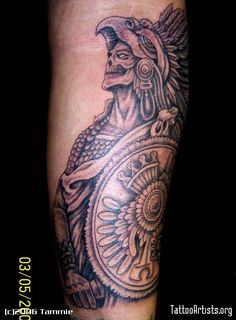 Aztec Warrior Tattoo | Aztec Warrior - Tattoo Artists.org