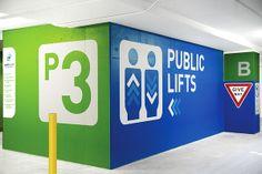 World Square Carpark – Signage + Wayfinding on Behance
