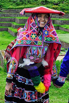 Traditional Peruvian Bride. Photo - Jacekkadaj/Dreamtime.com