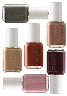 "Essie fall colors are the best. I love ""Very Structured"" (in the middle) It reminds me of pumpkin spice lattes!"