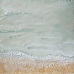 The Weeping Tide  Encaustic Landscape Painting  10x10 by arteCera, $225.00