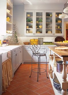 Turned Books Great White Kitchen, With Yellow & Green Accents!Great White Kitchen, With Yellow & Green Accents! Green Kitchen, Kitchen Redo, Rustic Kitchen, New Kitchen, Kitchen Remodel, Kitchen Island, Mexican Tile Kitchen, Kitchen Tiles, Spanish Tile Kitchen