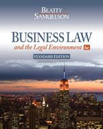 Solution Manual for Business Law and the Legal Environment 6th Edition by Beatty ISBN 1111530602 9781111530600 INSTRUCTOR SOLUTION MANUAL VERSION  http://solutionmanualonline.com/product/solution-manual-business-law-legal-environment-6th-edition-beatty-isbn-1111530602-9781111530600-instructor-solution-manual-version/