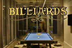 The billiards room a