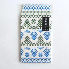 flower kogin pattern@ぽち袋「花こぎん」