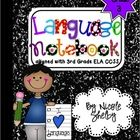 Grade - Language Interactive Notebook (Common Core aligned) - This is another interactive notebook for Language Arts. I like interactive notebooks, I had them when I was a kid and like how I could color and glue everything. 4th Grade Ela, 3rd Grade Writing, 4th Grade Reading, Third Grade, Sixth Grade, Teacher Notebook, Notebook Ideas, Teacher Tips, Teacher Stuff