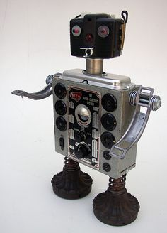 Seco 2 robot w/Brownie bullet camera head   Flickr - Photo Sharing!