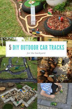 Outdoor car tracks for the backyard - 5 fab ideas