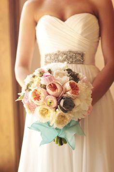 soft pastel wedding bouquet with succulents! #bouquet #bride #bridal #flowers #wedding #weddingbouquet http://www.secretgardenfineflowers.com/