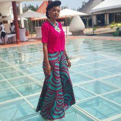 """Ready for the Nappy hair event At @dreambeachctn  #aske2015 #cotonou #vliscooutfit  #afro #waxhollandais #maxipant"""