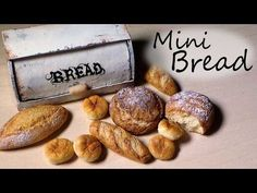 Polymer Clay Tutorial; 5 Types Of Bread - Miniature Food - http://www.fbdeveloper.de/polymer-clay-tutorial-5-types-of-bread-miniature-food/