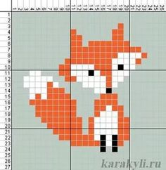 Cross Stitching, Cross Stitch Embroidery, Embroidery Patterns, Cross Stitch Designs, Cross Stitch Patterns, Fuchs Illustration, Fox Crafts, Pixel Pattern, Simple Cross Stitch