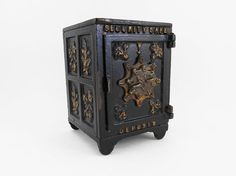Antique Cast Iron Security Safe Deposit Combination by KZStudioz This is awesome!
