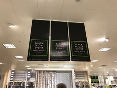 Using 3 banners to repeat the message in John Lewis.  Does this strengthen the message or adds to visual clutter?