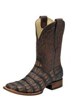 Corral Boots Men's Brown Crackle Caiman Croc Cowboy Boots | Men's Boots