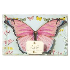 """""""Truly Fairy"""" Butterfly Bunting - Party Supplies - Talking Tables - Putti Fine Furnishings Toronto Canada - 1"""