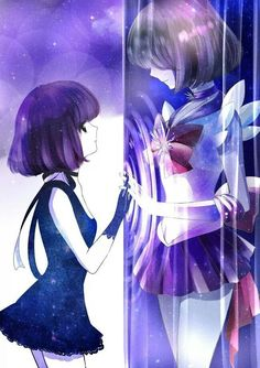 Hotaru and Sailor Saturn