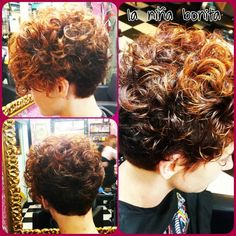 #cuts #curls #haircuts #lovecurls #curlbuildingserum #davines #laniñabonita Short Permed Hair, Short Curly Haircuts, Asymmetrical Hairstyles, Permed Hairstyles, Short Hair Cuts, Cool Hairstyles, Curly Hair Care, Curly Hair Styles, Belle Hairstyle