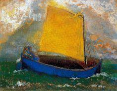 Odilon Redon - The Mystic Boat by naezdok, via Flickr