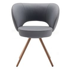 Fusion 044.L3 | Sandler Seating. Lounge chair with wooden legs.