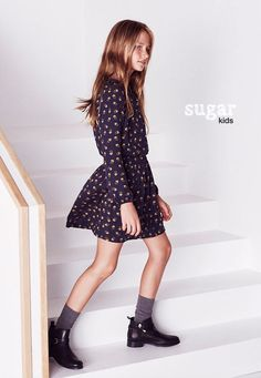 "Laura from Sugar Kids for Massimo Dutti ""Back to School"" collection."