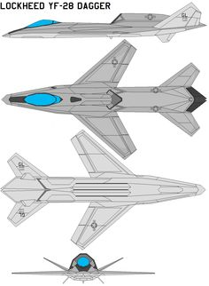 Lockheed YF-28 dagger by bagera3005.deviantart.com  Hypothetical design from a treasure trove of concepts on this site. Excellent.