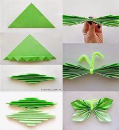 Mariposas hechas con papel DIY | Aprender manualidades es facilisimo.com