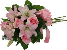 Celebrate your loved ones special day with exquisite Pink Lilies Roses Bouquet. Buy it now from realflowers.ae and give a WOW factor to them. We also specialize in delivering garden fresh flowers to Dubai. Book now! Beautiful Rose Flowers, Real Flowers, Pink Flowers, Online Flower Shop, Rose Bouquet, Flower Bouquets, Pink Lily, Special Day, Floral Wreath