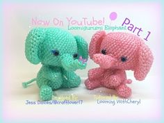Rainbow Loom Elephant (Part 2 of 2) Loomigurumi Amigurumi Hook Only слон Лумигуруми - YouTube
