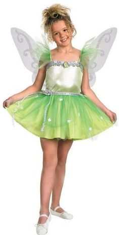 """10//12 Details about  /New Disney Tinkerbell /""""Tink/"""" Fairy Green Short Sleeve T-Shirt Girls Large"""