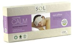 Velvety soft and soothing Organic Cotton Lavender Eye Pillow Mask with Clay Nature Beads Hot & Cold Therapy