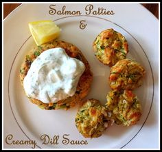 Hope, Strength, Laughter, Cancer: Let's Cook: Salmon Patties with Creamy Dill Sauce