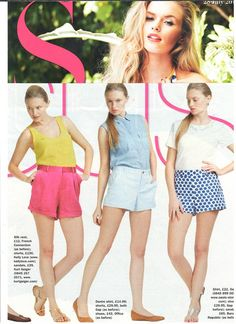 "Our ""Walk with the Dreamers Shorts"" looking bright and summery in S Magazine!"