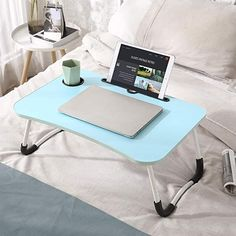 Amazon.com: lap desk with legs Laptop Table For Bed, Bed Table, Bed Tray, Lap Desk, Door Stop, Light Colors, Couch, Flooring, Townhouse