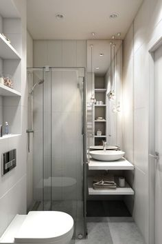 Washroom Improvement Concepts: bathroom remodel expense, shower room ideas for tiny shower rooms, tiny bathroom layout suggestions. Tiny House Bathroom, Bathroom Layout, Bathroom Decor Apartment, Shower Remodel, Bathroom Remodel Shower, Bathrooms Remodel, Bathroom Makeover, Apartment Bathroom, Bathroom Design Small