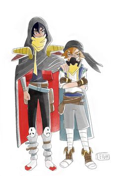 Keith and Pidge as Space Pirates in disguise from Voltron Legendary Defender