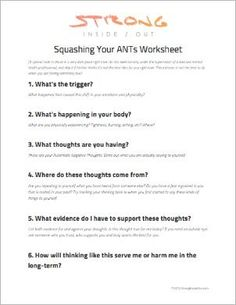 Cognitive Triangle Worksheet | Cognitive Behavioral Therapy Tools ...