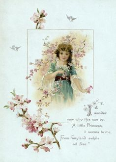 """Frances Brundage (1854–1937)  """"I wonder now who this can be,  A little Princess it seems to me, From Fairyland awhile set free."""""""