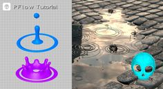 Advanced Rain with PFlow / Animating the Objects (PSkull + 3DArtist) / P...