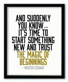 """Magic of Beginnings Print Mehr zum Thema """"Coaching"""" und Persönlichkeit gibt es auf LernCoaching-Berlin.com"""