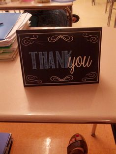 Thank you cards to match for baby shower. All chalkboard themed