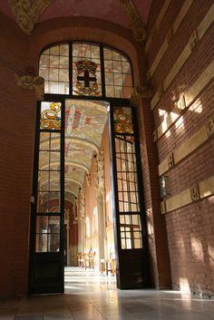 Interior of Hospital de Sant Pau, Barcelona.