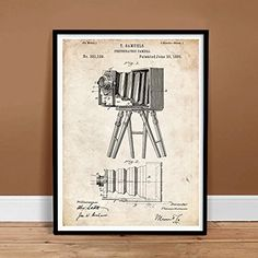 Steves Poster Store Vintage Camera Us Patent Invention Print Thomas Samuels Gift 1885 Unframed X Poster Store, Sale Poster, Us Patent, Poster Prints, Art Posters, Photography Gifts, Gifts For Photographers, Frame Display, Art Themes