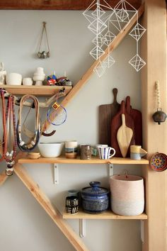 Awesome shelving | Making the Most of a Tiny Studio